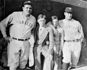 Babe Ruth and Lou Gehrig at South Orange Ballfield